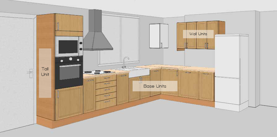 Design modular kitchens online for Modular kitchen shelves designs